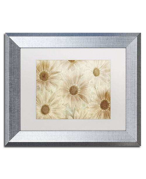 """Trademark Global Cora Niele 'Vintage Daisies' Matted Framed Art - 14"""" x 11"""" x 0.5"""""""