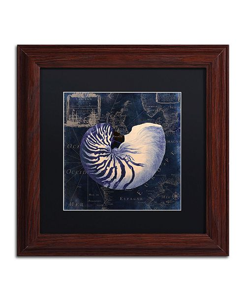 "Trademark Global Color Bakery 'Maritime Blues V' Matted Framed Art - 11"" x 0.5"" x 11"""