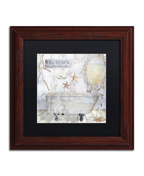 "Trademark Global Color Bakery 'Beach House I' Matted Framed Art - 11"" x 0.5"" x 11"""