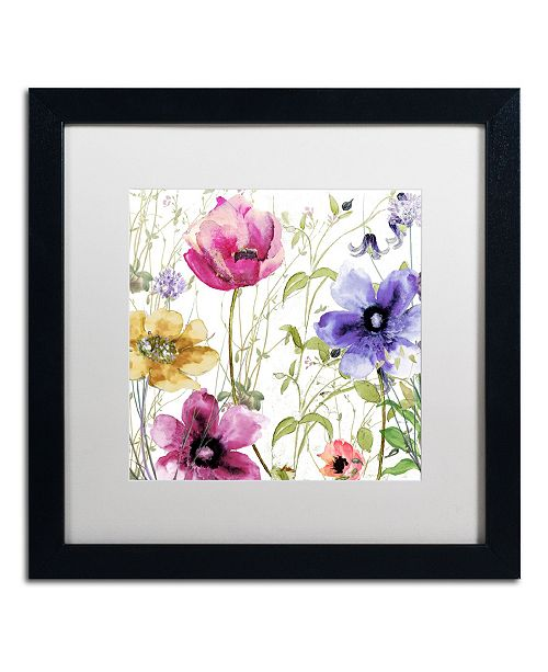"Trademark Global Color Bakery 'Summer Diary I' Matted Framed Art - 16"" x 16"" x 0.5"""
