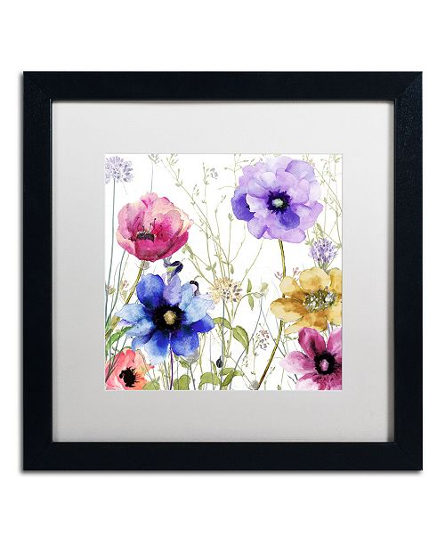 "Trademark Global Color Bakery 'Summer Diary II' Matted Framed Art - 16"" x 16"" x 0.5"""
