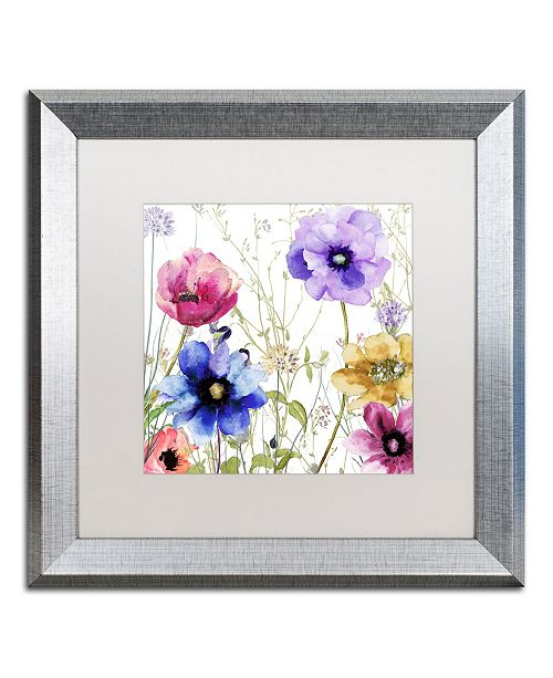 """Trademark Global Color Bakery 'Summer Diary II' Matted Framed Art - 16"""" x 0.5"""" x 16"""""""