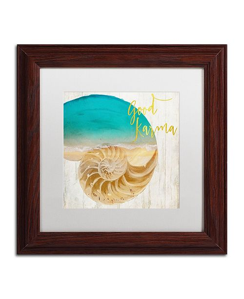 "Trademark Global Color Bakery 'Sea In My Hand' Matted Framed Art - 11"" x 0.5"" x 11"""