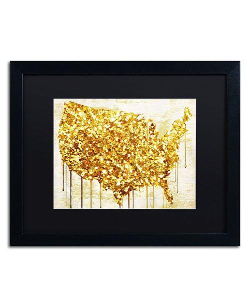 "Trademark Global Color Bakery 'American Dream IV' Matted Framed Art - 20"" x 16"" x 0.5"""