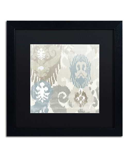 """Trademark Global Color Bakery 'Beach Curry I' Matted Framed Art - 16"""" x 16"""" x 0.5"""""""