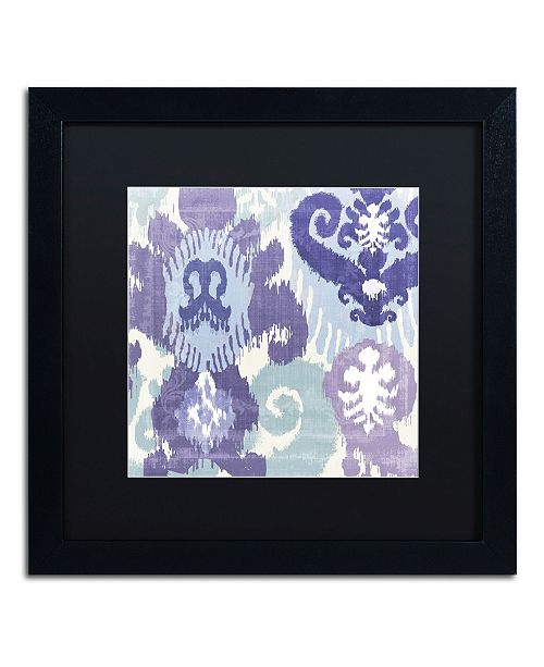 "Trademark Global Color Bakery 'Blue Curry I' Matted Framed Art - 16"" x 16"" x 0.5"""