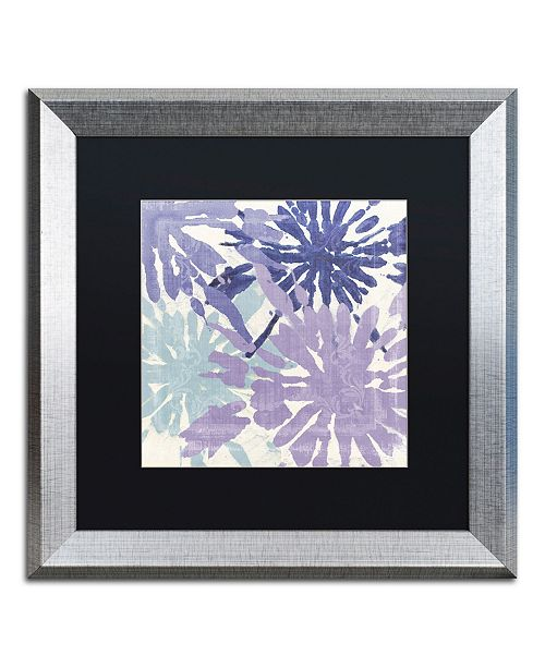 """Trademark Global Color Bakery 'Blue Curry II' Matted Framed Art - 16"""" x 0.5"""" x 16"""""""