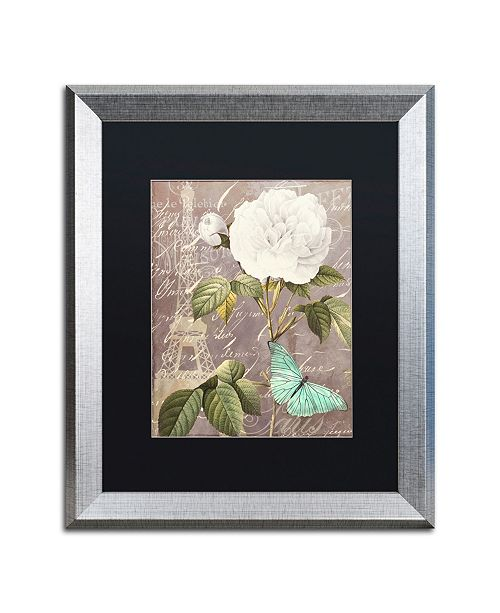 "Trademark Global Color Bakery 'White Rose' Matted Framed Art - 16"" x 0.5"" x 20"""