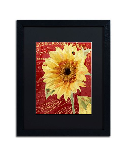 """Trademark Global Color Bakery 'Ete Lady Bug' Matted Framed Art - 16"""" x 20"""" x 0.5"""""""