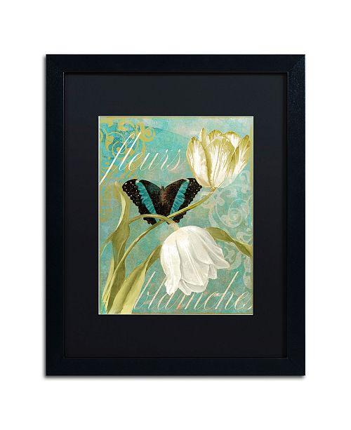 "Trademark Global Color Bakery 'White Tulips' Matted Framed Art - 16"" x 20"" x 0.5"""