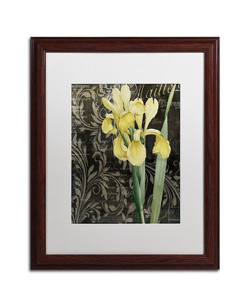 """Trademark Global Color Bakery 'Ode to Yellow Flowers' Matted Framed Art - 16"""" x 0.5"""" x 20"""""""