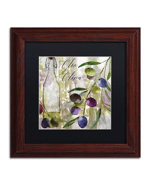 """Trademark Global Color Bakery 'Colors Of Tuscany I' Matted Framed Art - 11"""" x 0.5"""" x 11"""""""