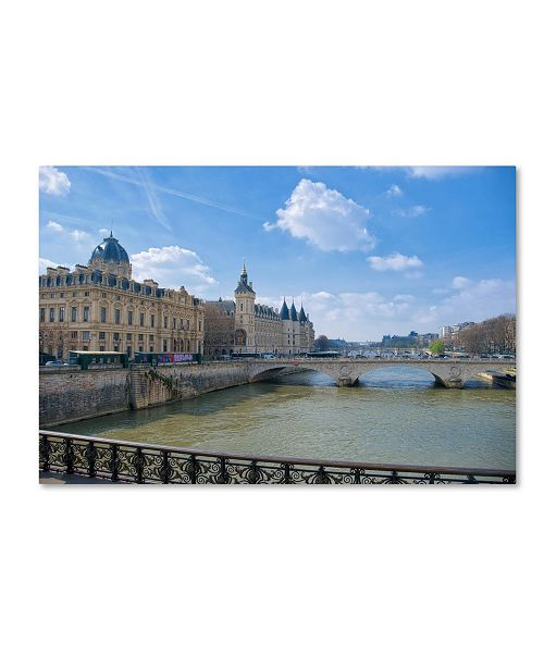 "Trademark Global Cora Niele 'Palais de la Cite' Canvas Art - 24"" x 16"" x 2"""