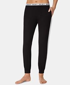 DKNY Logo-Waist Jogger Pajama Pants