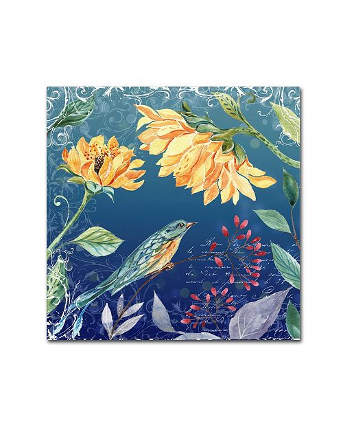 "Trademark Global Irina Trzaskos Studio 'Evening Garden VI' Canvas Art - 18"" x 18"" x 2"""
