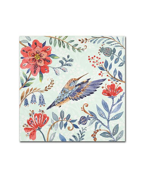 "Trademark Global Irina Trzaskos Studio 'Birds and Flowers II' Canvas Art - 35"" x 35"" x 2"""