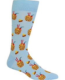 Hot Sox Men's Socks, Pineapple