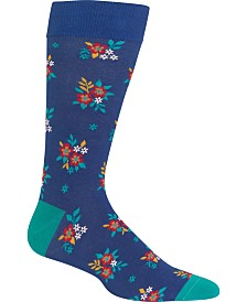 Hot Sox Men's Socks, Ditzy Floral