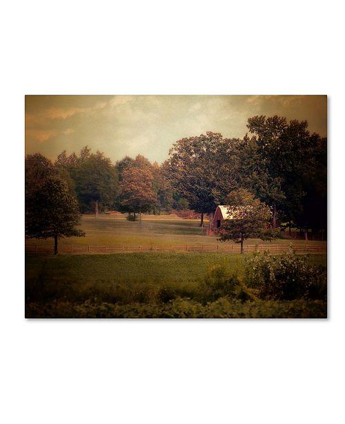 "Trademark Global Jai Johnson 'Red Roadside Barn' Canvas Art - 32"" x 24"" x 2"""