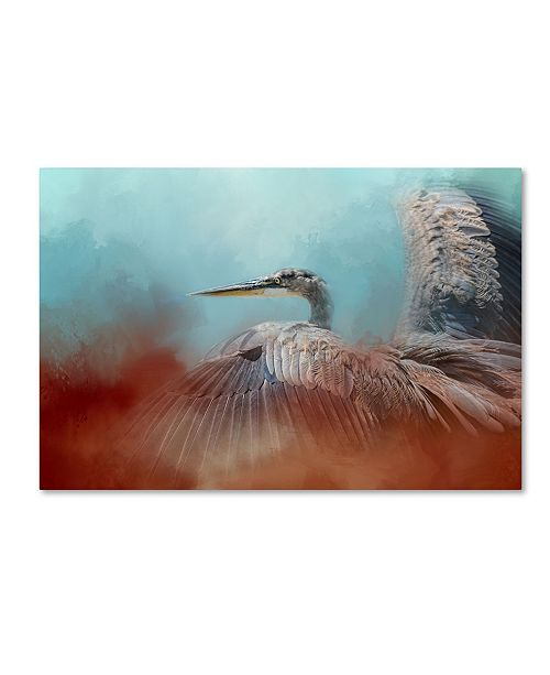 "Trademark Global Jai Johnson 'Emerging Heron' Canvas Art - 47"" x 30"" x 2"""