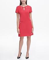1f6e63b1f441 Tommy Hilfiger Scuba Crepe Grommet Top Pocket Dress