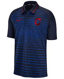 Men's Cleveland Indians Stripe Game Polo