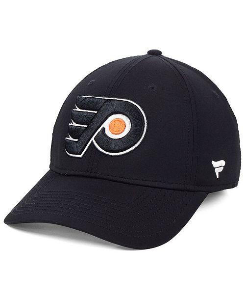 Authentic NHL Headwear Philadelphia Flyers Basic Flex Stretch Fitted Cap