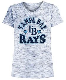 5th & Ocean Big Girls Tampa Bay Rays Spacedye T-Shirt