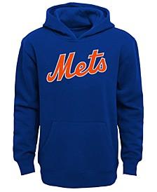 Little Boys New York Mets Wordmark Pullover Fleece Hoodie