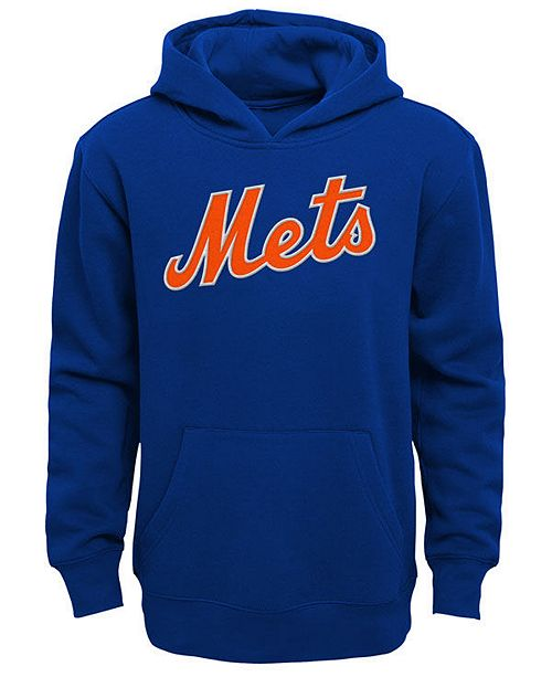Outerstuff Little Boys New York Mets Wordmark Pullover Fleece Hoodie