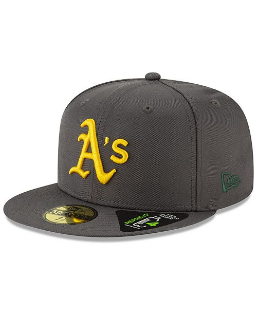 buy popular 9d22c c0ec7 ... New Era Oakland Athletics Recycled 59FIFTY Fitted Cap ...