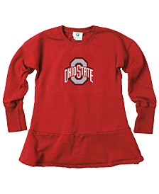 Wes & Willy Toddlers Ohio State Buckeyes Fleece Dress