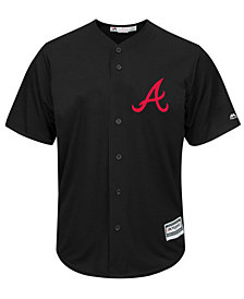 Majestic Men's Atlanta Braves Black Tux Replica Cool Base Jersey