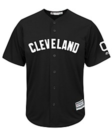 Majestic Men's Cleveland Indians Black Tux Replica Cool Base Jersey