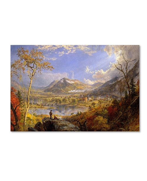 "Trademark Global Cropsey 'Starrucca Viaduct Pennsylvania' Canvas Art - 32"" x 22"" x 2"""