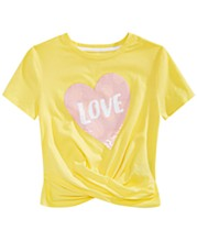 8876b7ad Epic Threads Big Girls Reversible Sequin Twist-Front T-Shirt, Created for  Macy's