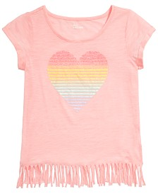 Epic Threads Big Girls Printed Fringe T-Shirt, Created for Macy's