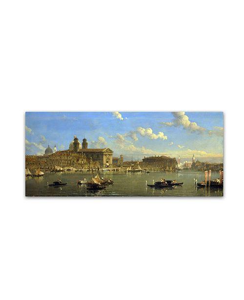 "Trademark Global David Roberts 'The Giudecca Venice' Canvas Art - 19"" x 8"" x 2"""