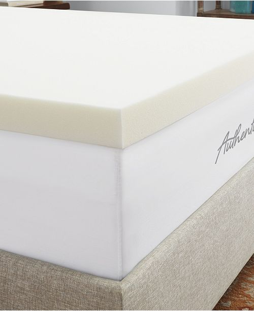 "Authentic Comfort CLOSEOUT! 3"" Breathable Memory Foam Mattress Topper Collection"