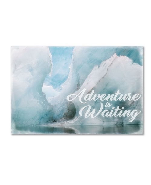 "Trademark Global Cora Niele 'Adventure Is Waiting' Canvas Art - 19"" x 12"" x 2"""
