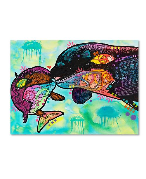 """Trademark Global Dean Russo 'Love as Large as a Whale' Canvas Art - 19"""" x 14"""" x 2"""""""