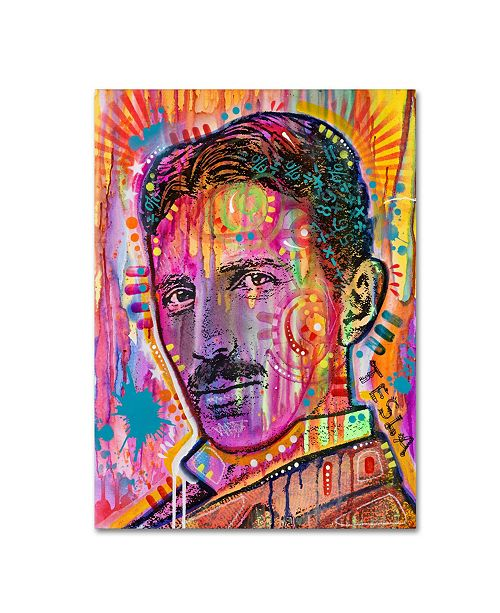 "Trademark Global Dean Russo 'Tesla' Canvas Art - 32"" x 24"" x 2"""