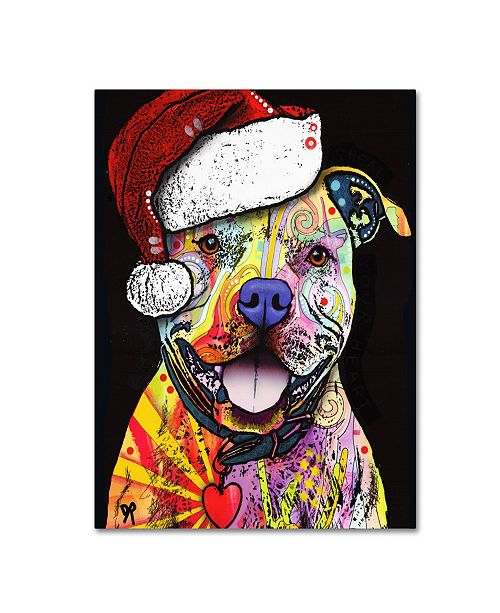 "Trademark Global Dean Russo 'Beware of Pit Bulls Christmas Edition' Canvas Art - 24"" x 18"" x 2"""