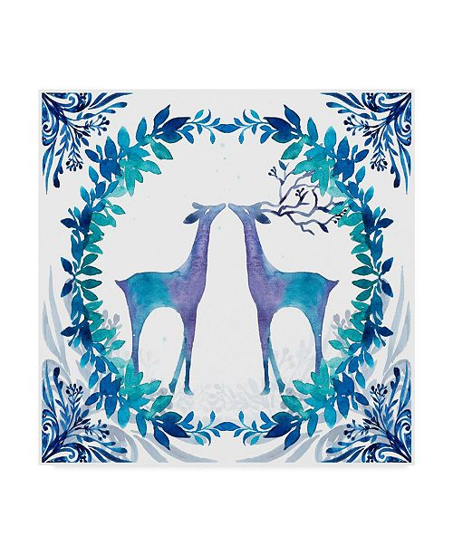 "Trademark Global Irina Trzaskos Studio 'Winter Tales Deer' Canvas Art - 14"" x 14"" x 2"""