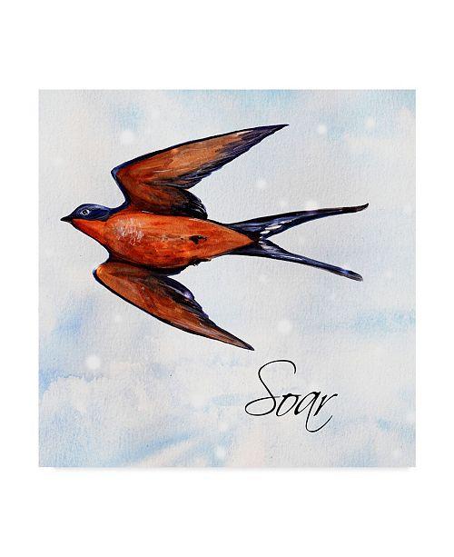 "Trademark Global Irina Trzaskos Studio 'Bird Inspiration II' Canvas Art - 18"" x 18"" x 2"""