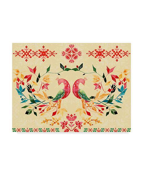 "Trademark Global Irina Trzaskos Studio 'Colorful Birds II' Canvas Art - 32"" x 24"" x 2"""