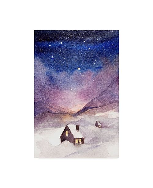 "Trademark Global Irina Trzaskos Studio 'Winter Night' Canvas Art - 19"" x 12"" x 2"""