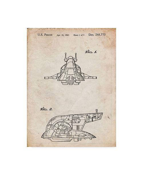 "Trademark Global Cole Borders 'Space Ship 1' Canvas Art - 32"" x 24"" x 2"""
