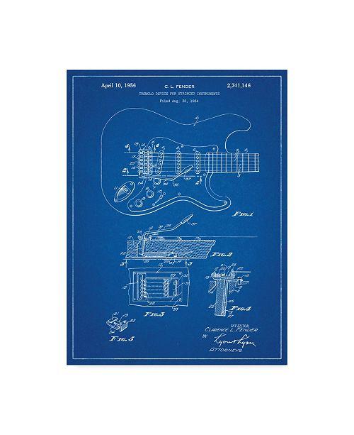 "Trademark Innovations Cole Borders 'Guitar 3' Canvas Art - 19"" x 14"" x 2"""