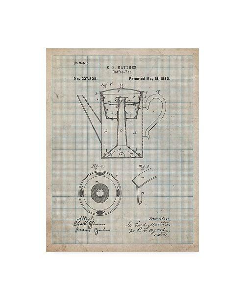 "Trademark Global Cole Borders 'Tea Pot 2' Canvas Art - 19"" x 14"" x 2"""